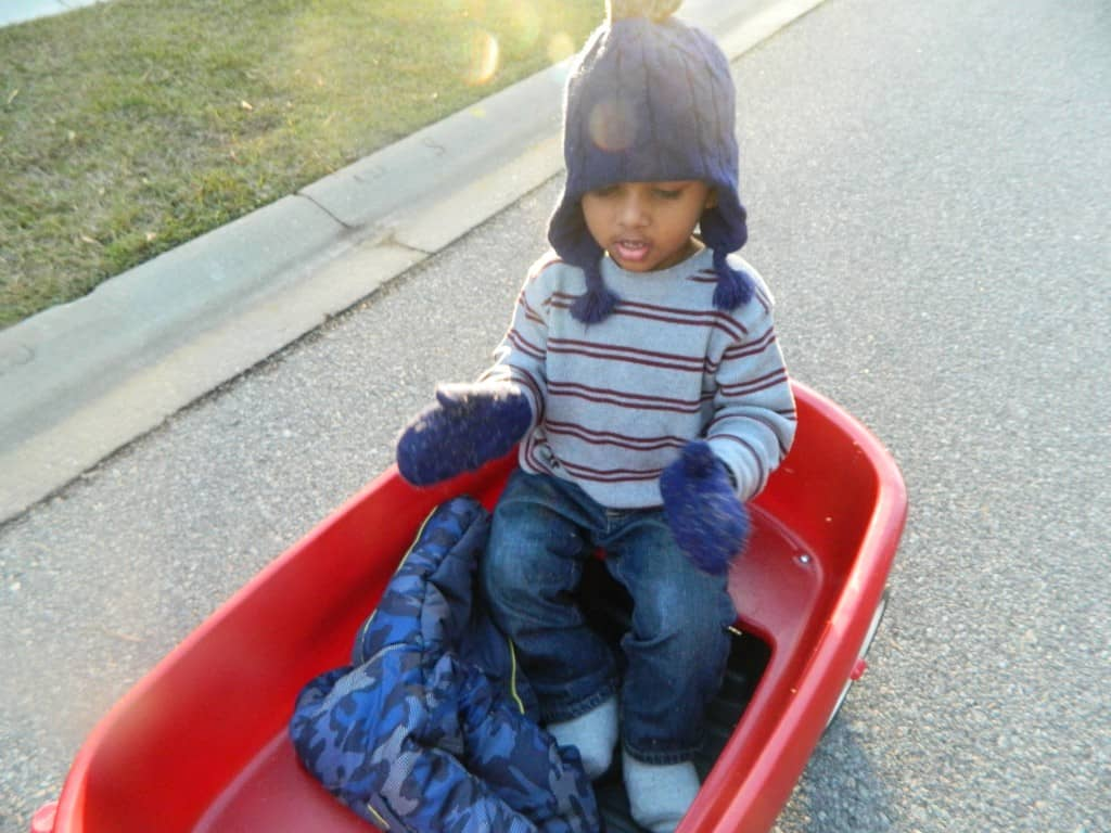 nature scavenger hunt for winter 3 year old goes exploring
