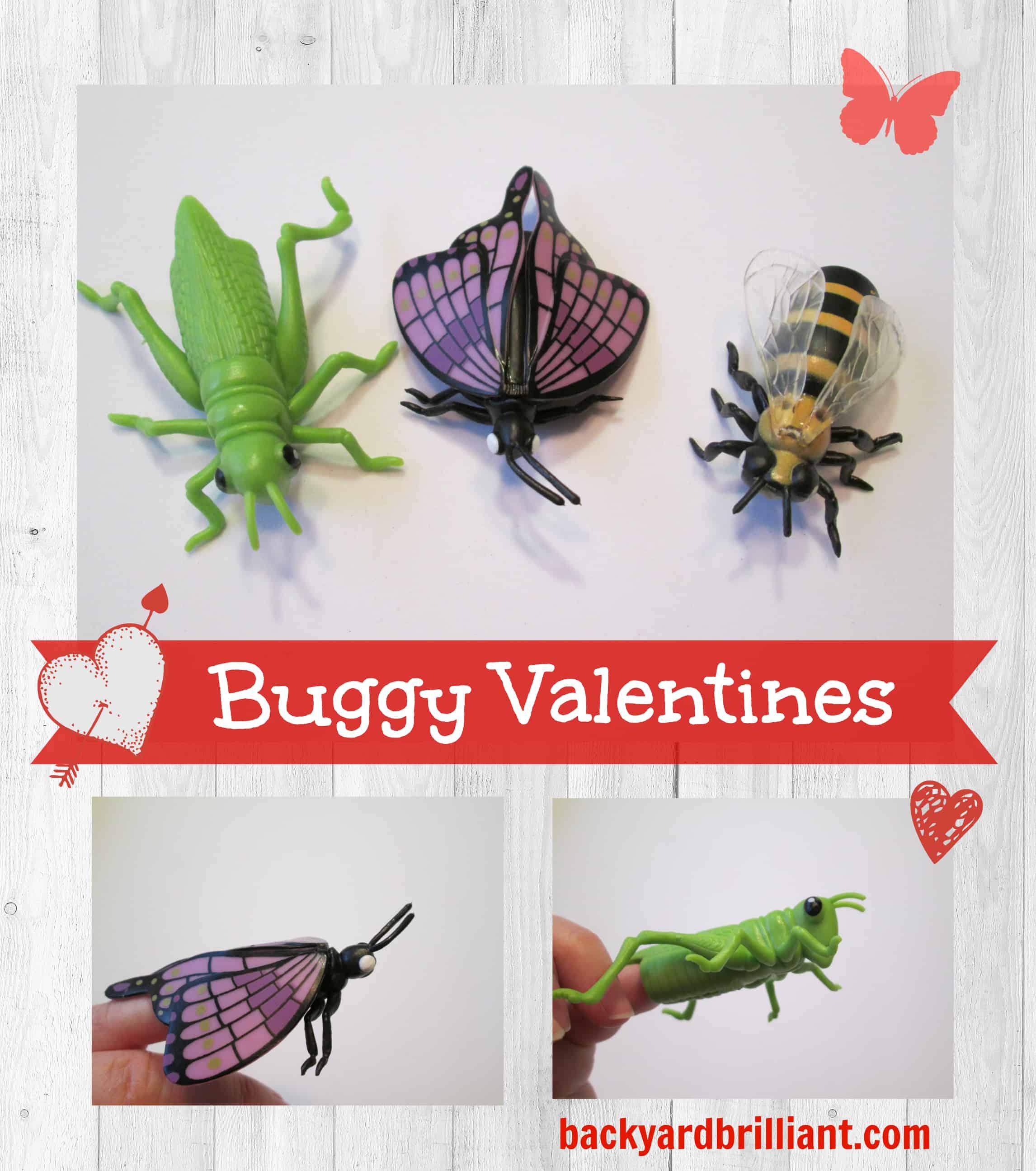 Bug Valentines Bug Finger Puppets