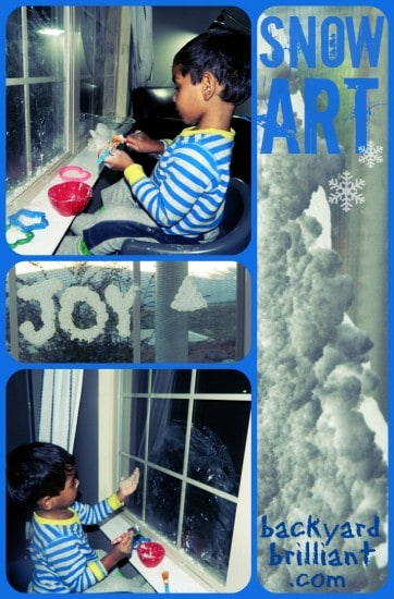Snow Art – a Fun Indoor Winter Activity for Kids (No Snow Required!)