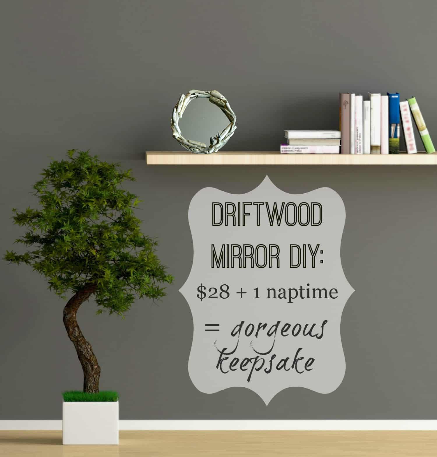 Driftwoodmirrordiykitgrayroombookshelflabel