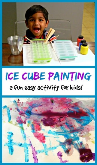 Painting with Ice Cubes: Easy, Cheap Fun with Your Kids!