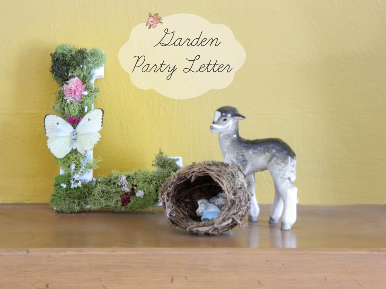 Mossy Letter DIY - Backyard Brilliant