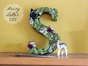 Mossy Letter DIY