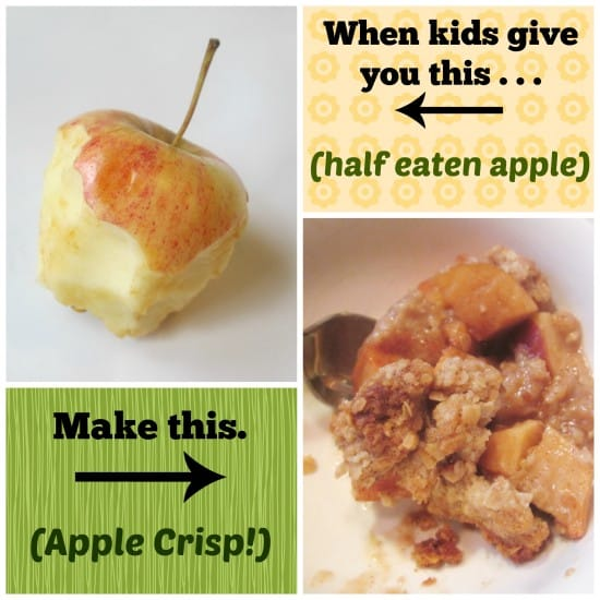 Easy Apple Crisp (no more food waste!)