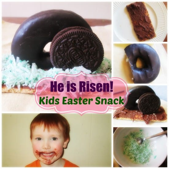 He is Risen!  Easter Snack Idea for Kids