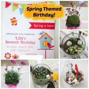 Spring themed birthday party!