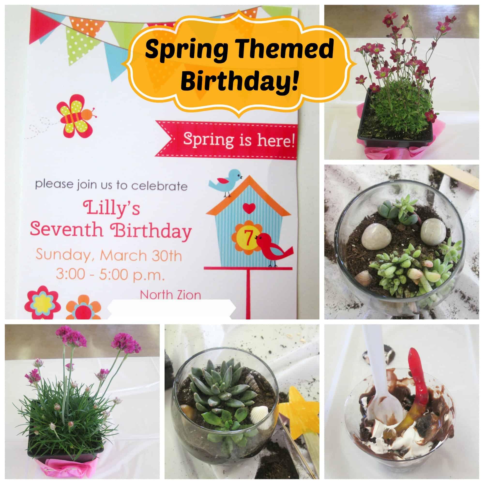 Spring Themed Birthday Party Backyard Brilliant