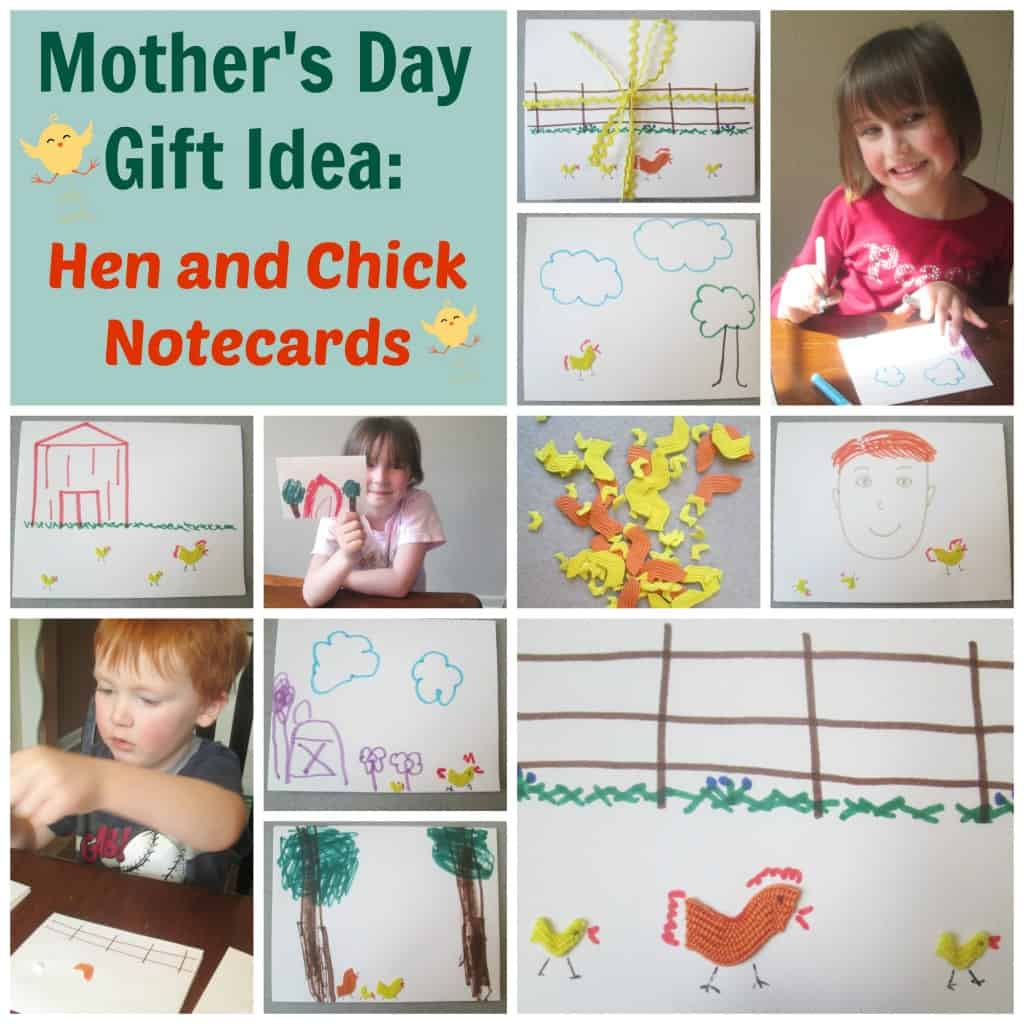 hen and chick notecards collage